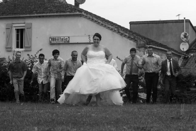 mariage lot et garonne turquoise et fushia temoins mariee
