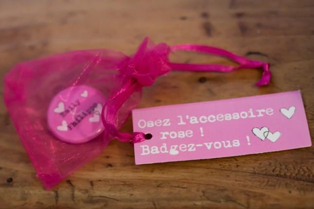 mariage pluie badges