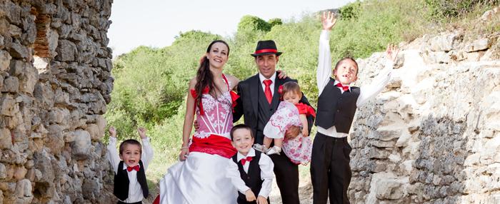 Le mariage en rouge et noir d'Amélie