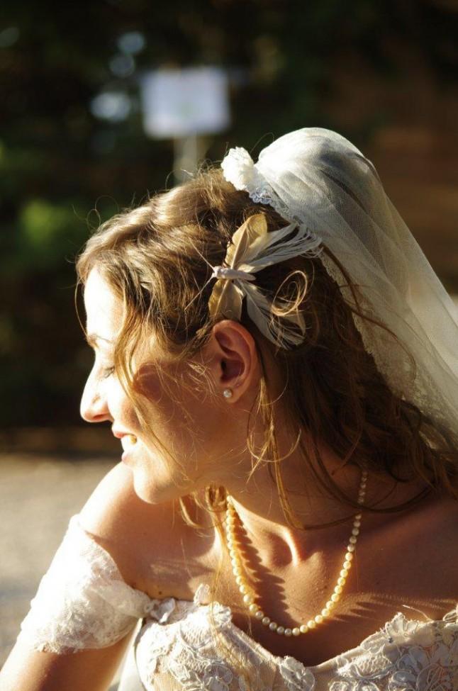 mariée coiffure papillon