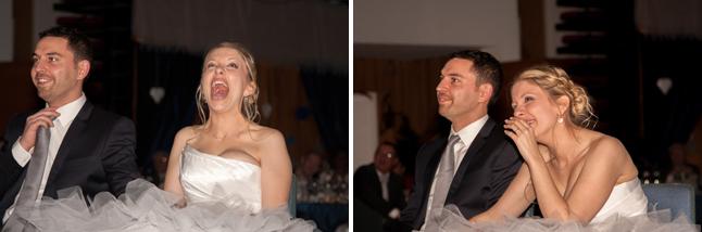 surprise mariée hilare