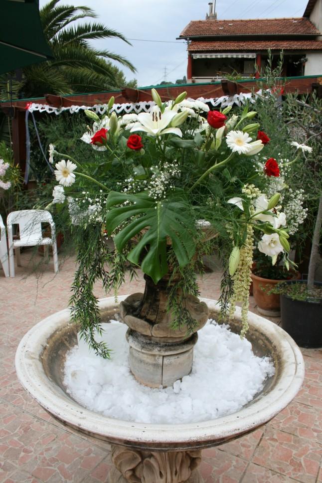 déco florale fiançailles
