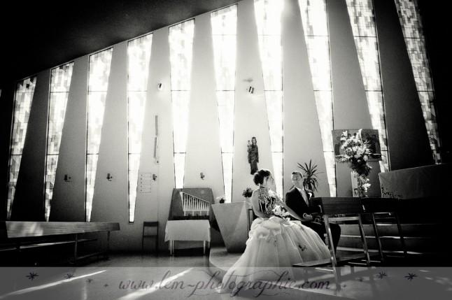 mariage à l'église LEM Photographie