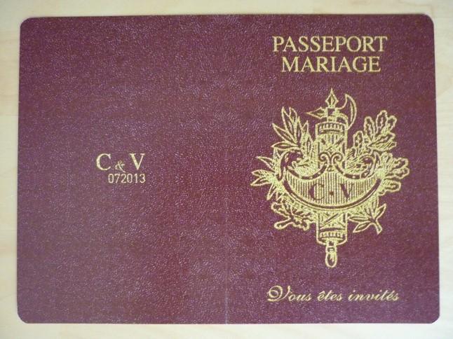 faire-part de mariage passeport