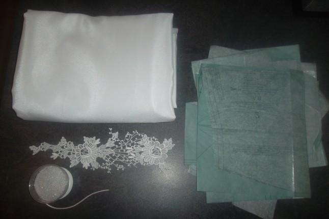 matériel de couture robe de mariée