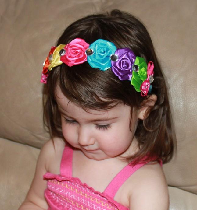couronne de fleurs multicolore