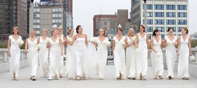 demoiselles d'honneur en blanc