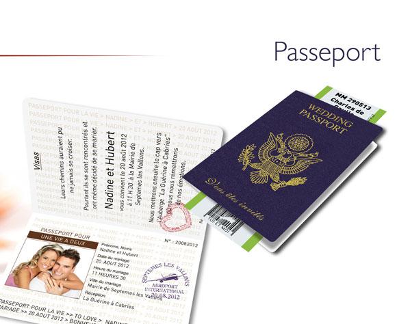 faire-part de mariage voyage passport
