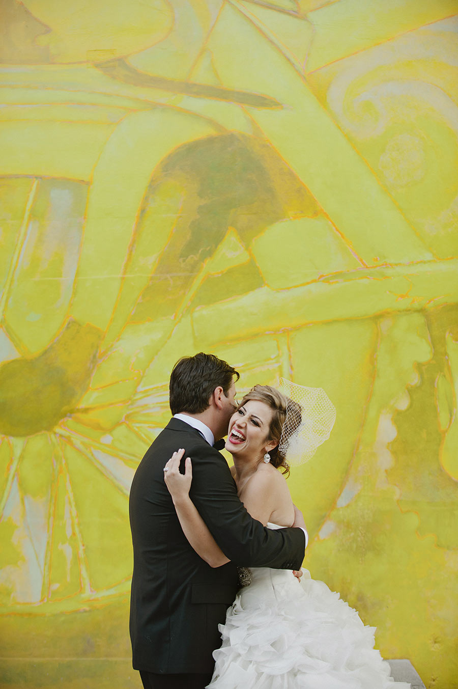 photo de couple fond vélo jaune
