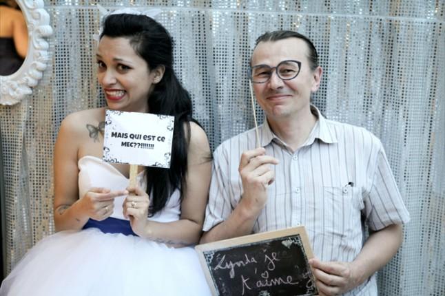 mariage thème cirque photobooth