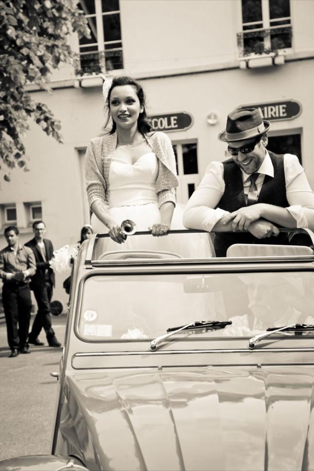 mariage thème cirque voiture 2CV
