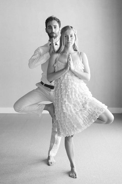 photo d'engagement yoga