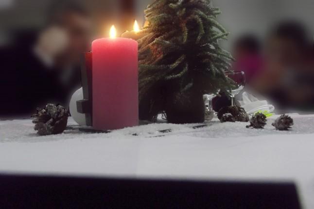 centre de table mariage hivernal