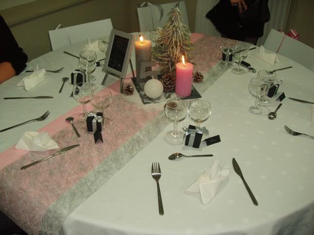 déco de table mariage hivernal
