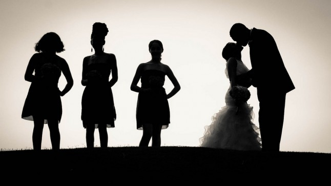 silhouettes mariage