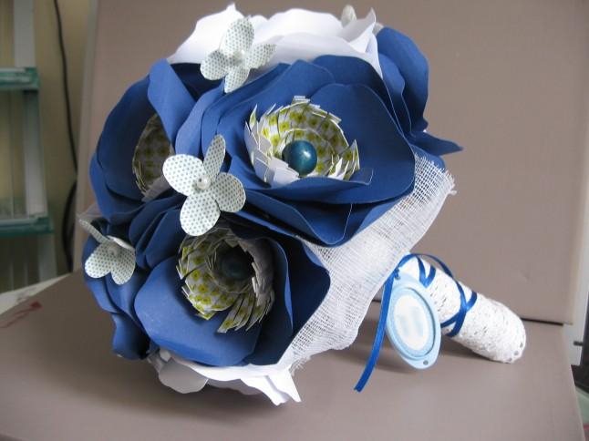 bouquet de mariée fleurs en papier