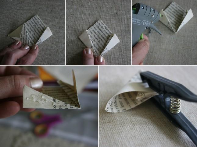 Tutoriel fleurs en papier étape F