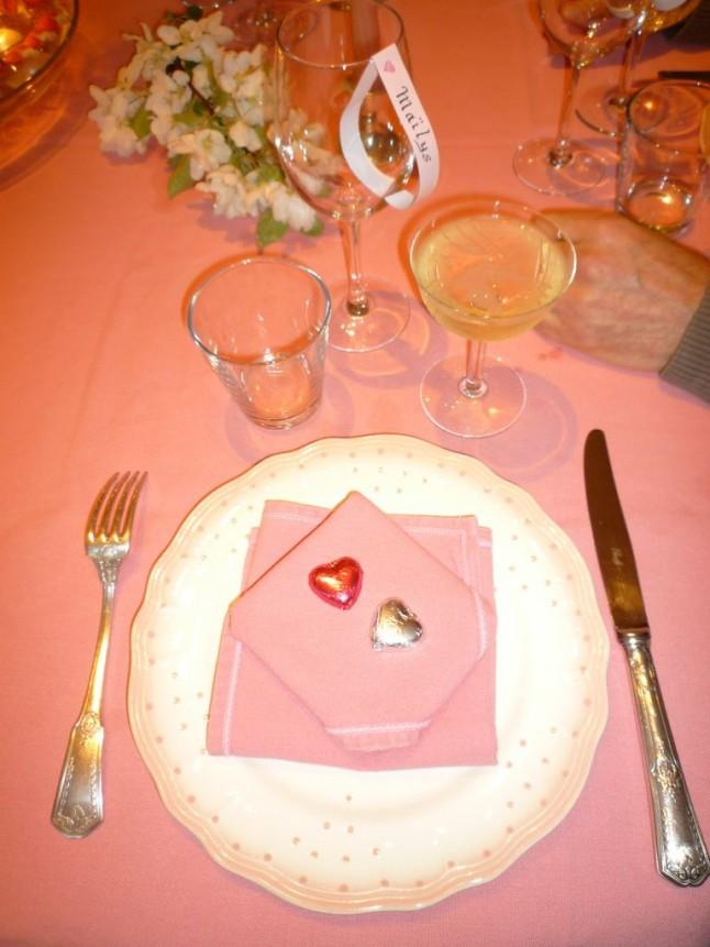 déco de table de fiançailles Marshmallow
