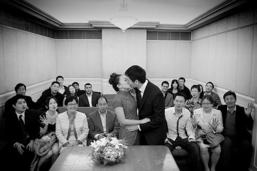 mariage à la mairie en petit comité