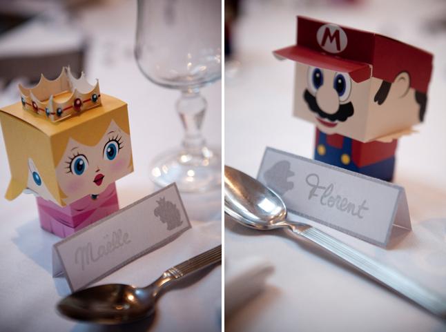 mariage hiver jeux vidéos en région lyonnaise - cadeaux invités Mario et Peach