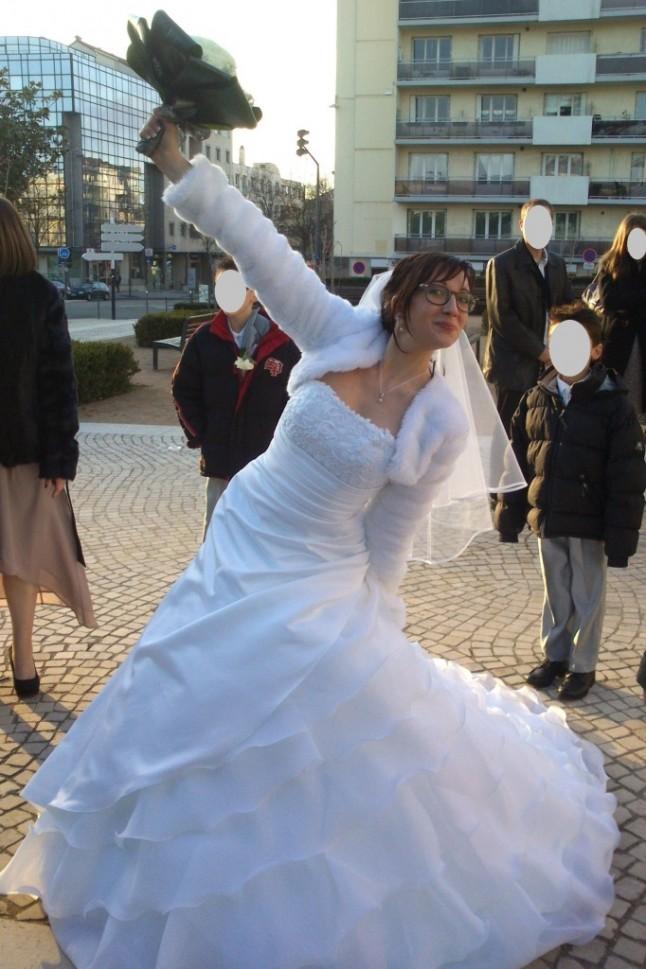 mariage hiver jeux vidéos en région lyonnaise - mariée