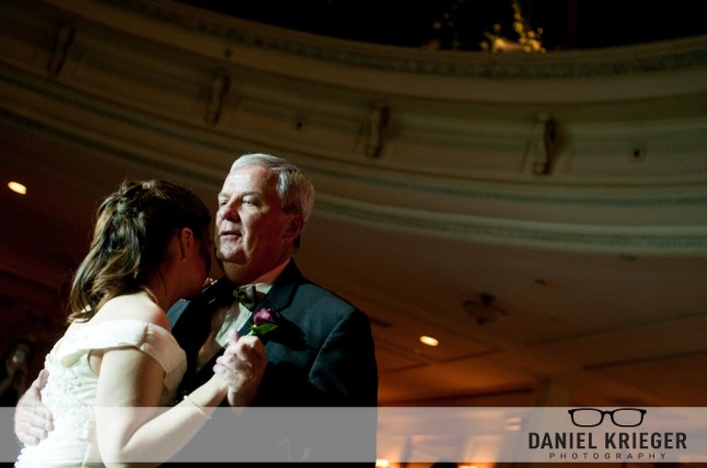 danse mariée et son père