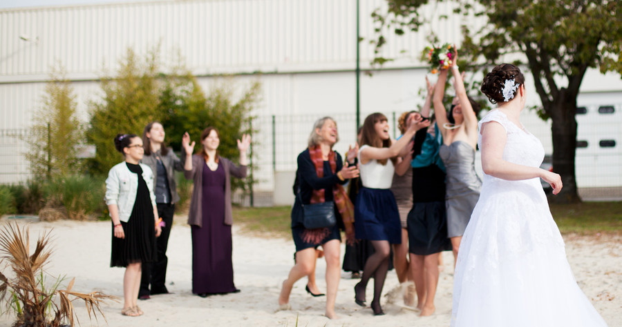 Mon mariage en blanc, rose et orange : les surprises, jeux et animations