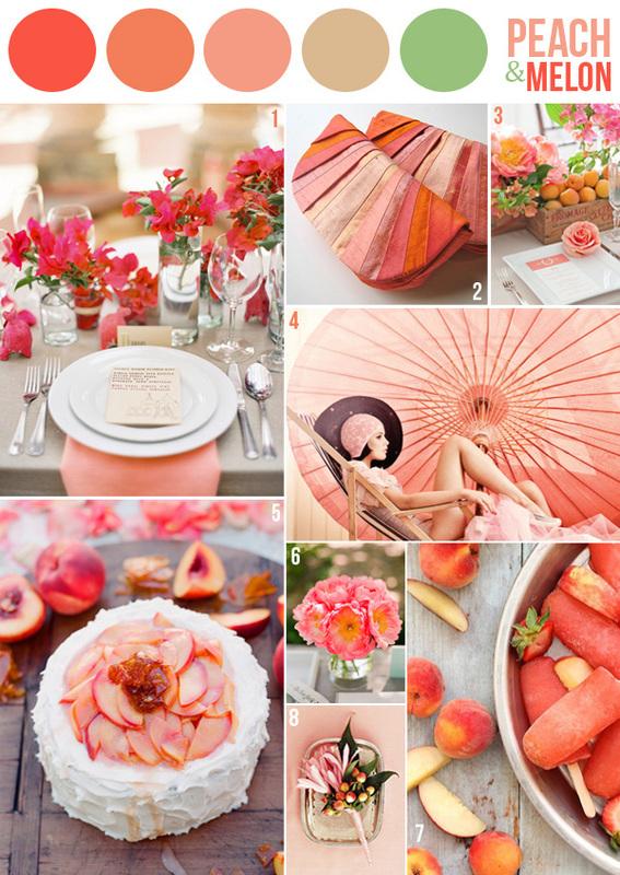 Decoration Mariage Saumon Or
