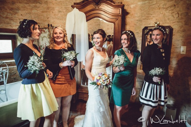 mariage Beaujolais témoins filles