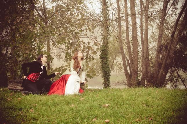 photos de couple mariage médiéval