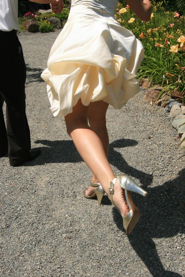 Bride legs