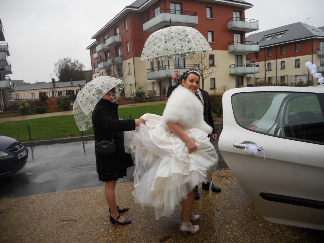 Parapluies de mariage