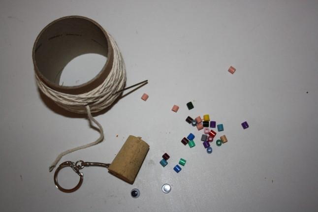 matériel porte-clé cadeau d'invité DIY