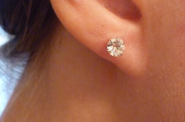 boucles d'oreille sobres