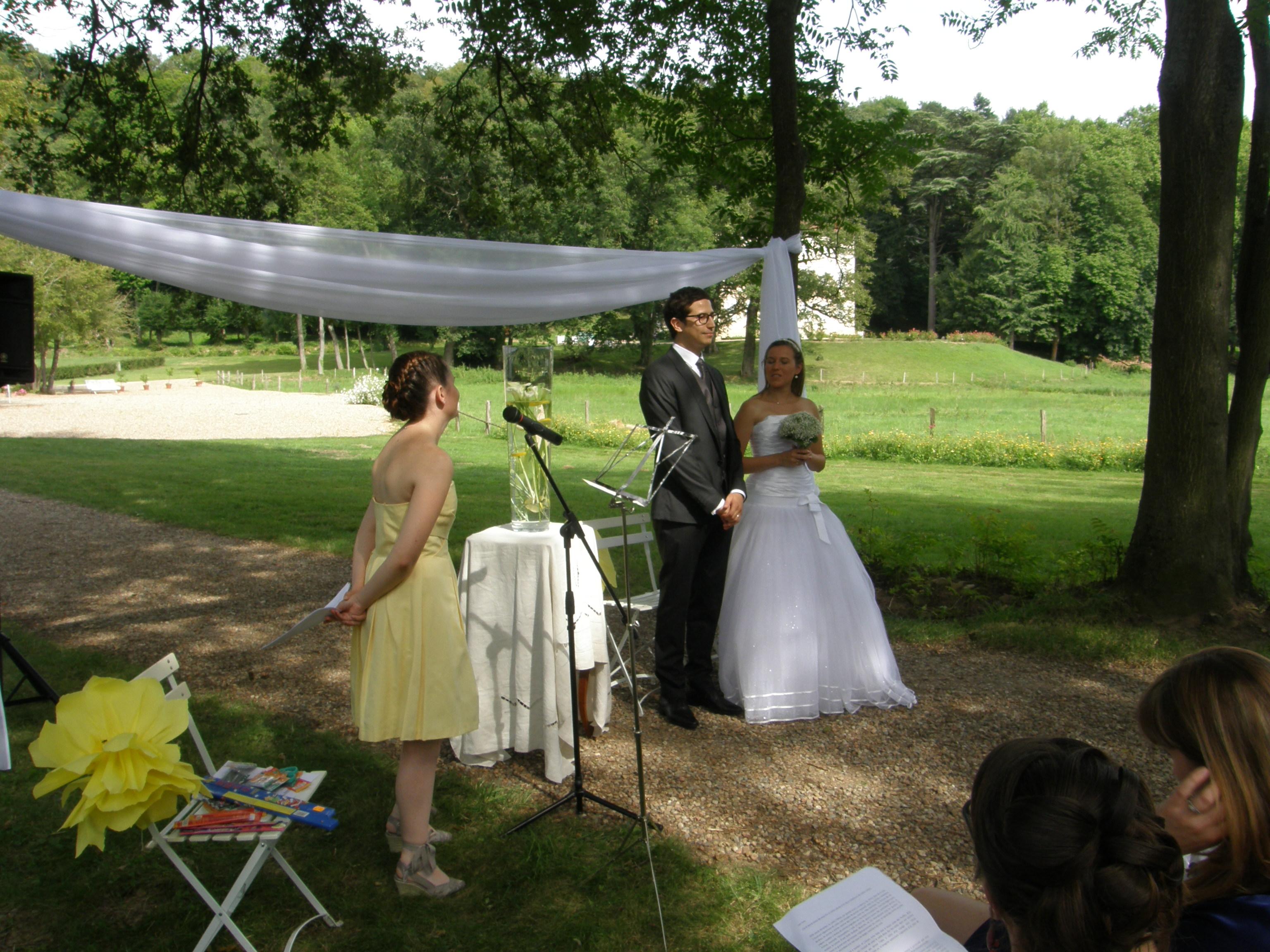 Une cérémonie laïque… vue par la maîtresse de cérémonie !