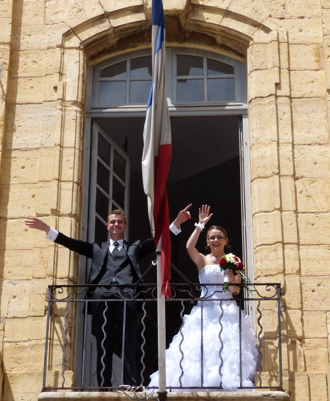 mariés au balcon