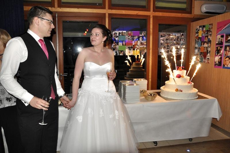 Mon mariage en blanc, rose et orange : la soirée !
