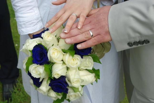 Alliances et bouquet