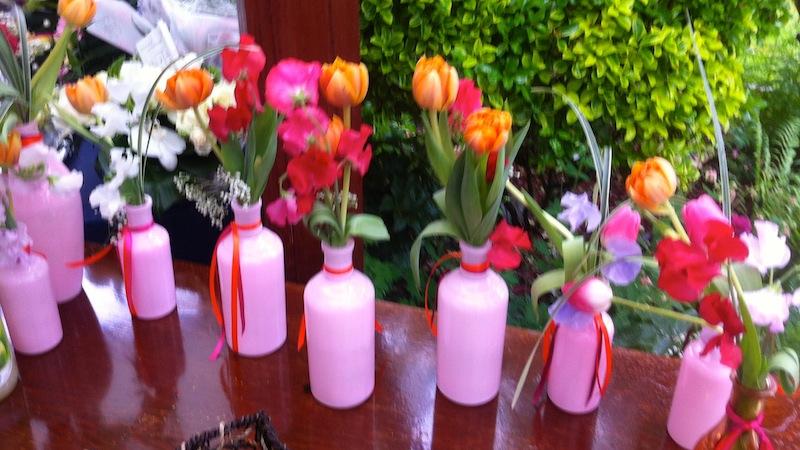 Mon mariage en blanc, rose et orange : le retour de noces
