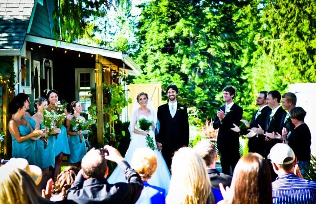 mariage cérémonie extérieur