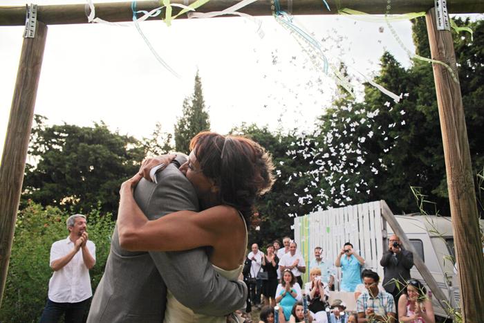 Le mariage au jardin d'Annick, en toute liberté !