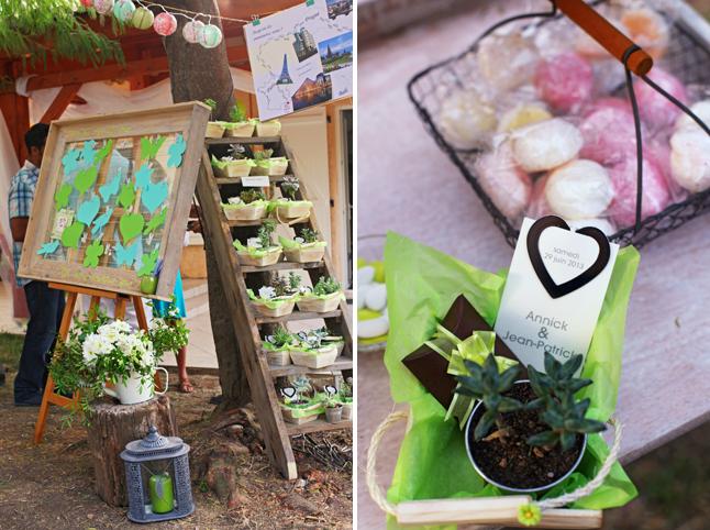 éco fleurie plan de table cadeaux d'invités plantes