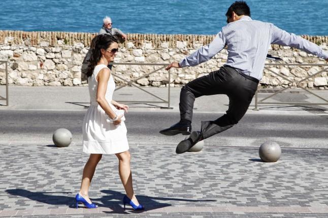 photos de couple mariage saut marié