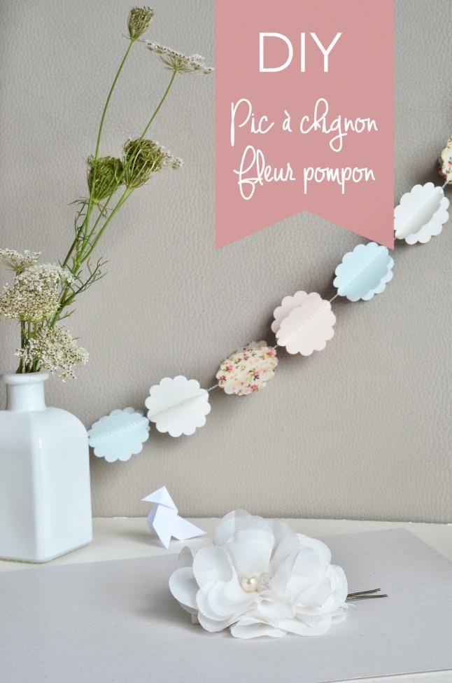 Pic à chignon Fleur Pompon