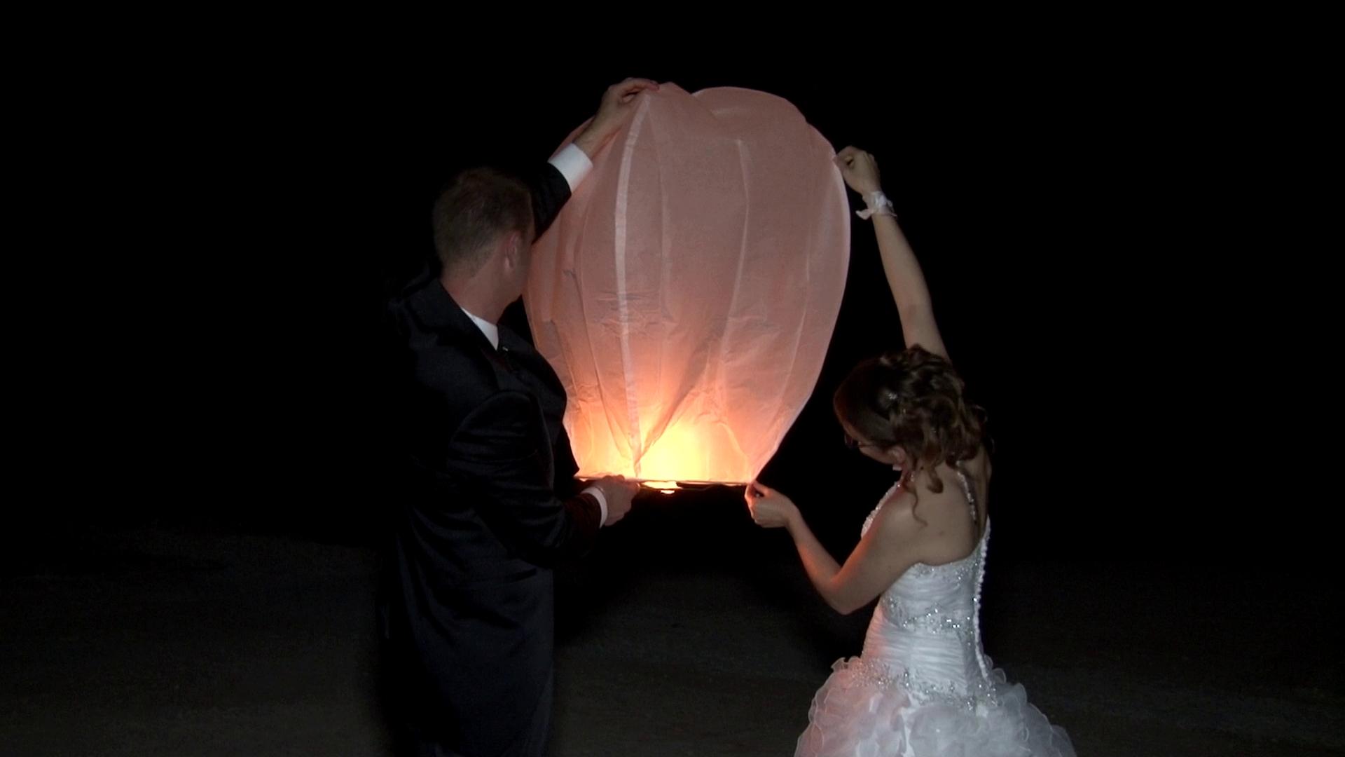 Mon mariage Cinéma : pièce montée et lâcher de lanterne !