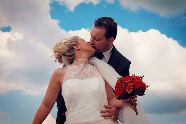photo de couple nuages