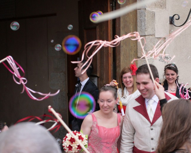 ruban sortie de mairie mariage convivial petit budget