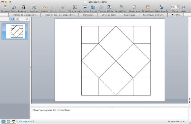 R alise un menu cocotte en papier sous power point le for Comment faire un dessin sur ordinateur