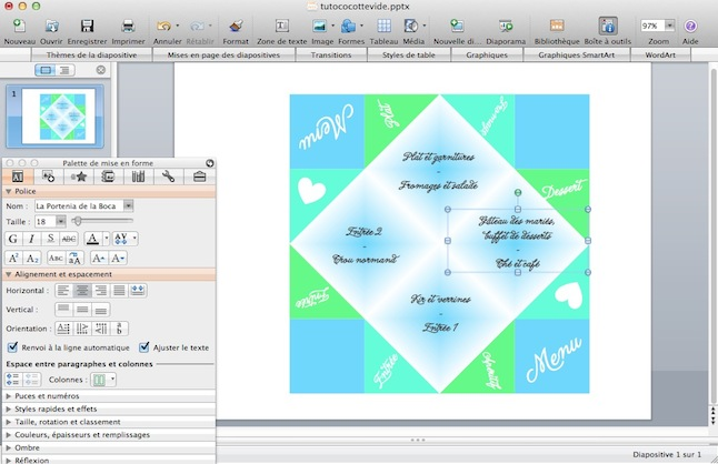 R alise un menu cocotte en papier sous power point le tutoriel de madame pivoine - Telecharger libre office gratuitement ...