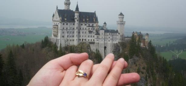 Nos fiançailles, dans la région de notre rencontre…